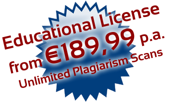 PlagAware plagiarism scans for universities and schools