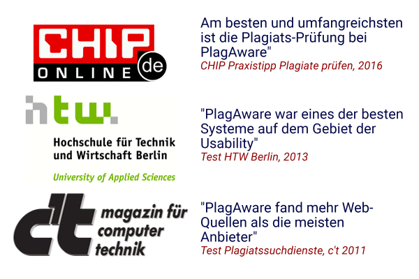 Test of PlagAware in the press