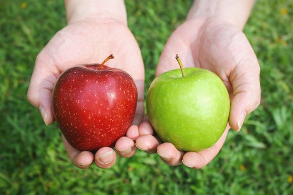 Comparison of apples